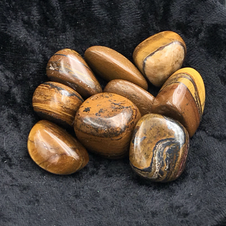 Hex Tumbled Tiger's Eye
