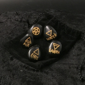 Hex Black Agate Witch's Rune Set