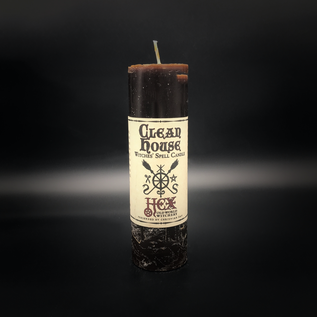 Hex Hex Pillar Candle - Clean House