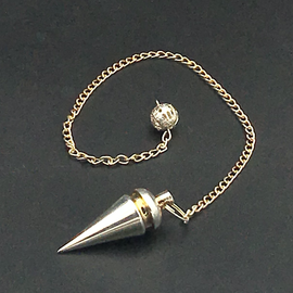 Hex Silver Metal Cone Pendulum
