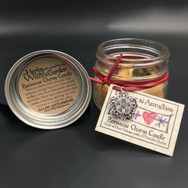 Hex Glamour and Attraction Beeswax Charm Candle 4oz