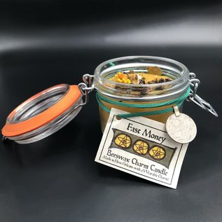 Hex Fast Money Beeswax Charm Candle 7.4oz