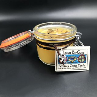Hex Demon Be-Gone Beeswax Charm Candle 7.4oz