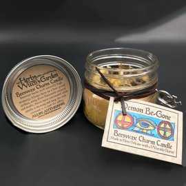 Hex Demon Be-Gone Beeswax Charm Candle 4oz