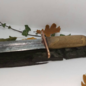 Hex Hand Forged Steel Bladed Athame With a Hazel Handle