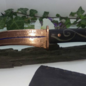 Hex Copper Curved Bladed Athame With a Inlayed Bog Oak Handle