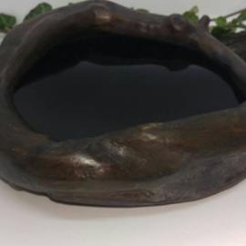 Hex Black Thorn Wood Concave Black/Dark Scrying Mirror