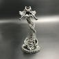 Hex Helix Ossuary Candlestick Holder in Silver Finish