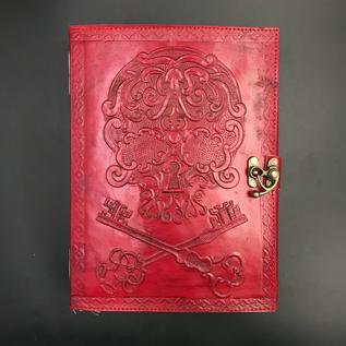 Hex Small Skull Keys Journal in Red