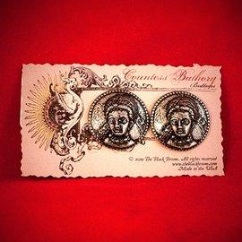 Hex Countess Bathory Buttons (pair)