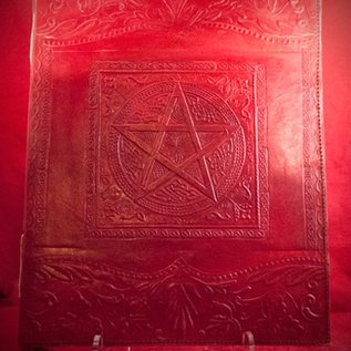 Hex Large Pentacle in Square Journal in Red