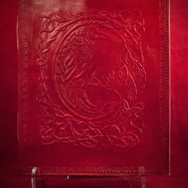 Hex Small Raven Journal in Red