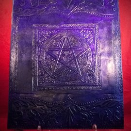 Hex Large Pentacle in Square Journal in Purple