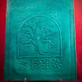 Hex Small Tree of Life Journal in Blue