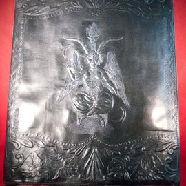 Hex Large Baphomet Journal in Black
