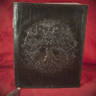 Hex Small Detailed Celtic Knot Tree Journal in Black