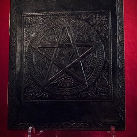 Hex Small Pentacle in Square Journal in Black
