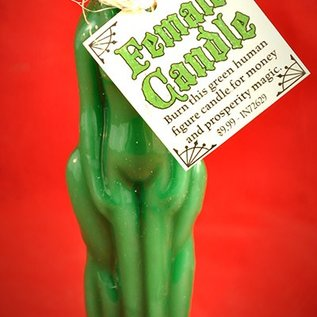 Hex Green Female Image Candle