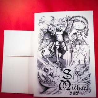 Hex Greeting Card - St. Michael by Sabrina the Inkwitch