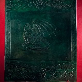 Hex Large Dragon Journal in Green