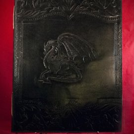 Hex Large Dragon Journal in Black