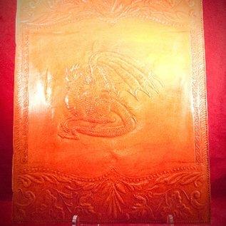 Hex Large Dragon Journal in Orange