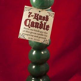 Hex Candle Seven Knob Green