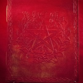 Hex Small Herbal Pentagram Journal in Red