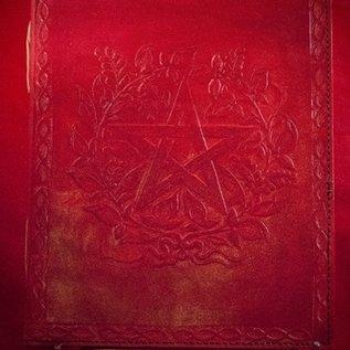 Hex Small Herbal Pentagram Journal in Red