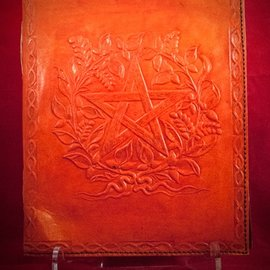 Hex Small Herbal Pentagram Journal in Orange