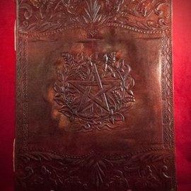 Hex Large Herbal Pentagram Journal in Brown