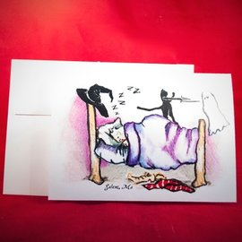 Hex Greeting Card - Sweet Dreams by Sabrina the Ink Witch