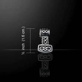 Hex Thor's Hammer Silver Pendant