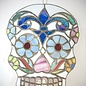 Hex Stained Glass Sugar Skull - Large
