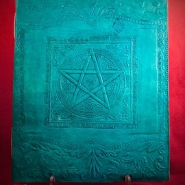 Hex Large Pentacle in Square Journal in Blue
