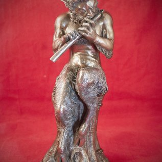 Hex Satyr Statue in Cold Cast Bronze