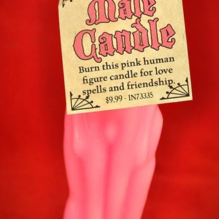 Hex Pink Male Image Candle
