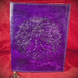 Hex Small Detailed Celtic Knot Tree Journal in Purple