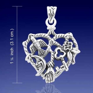 Hex Heart Cimaruta Pendant