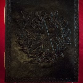 Hex Small Herbal Pentagram Journal in Black
