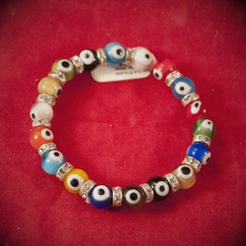Hex Evil Eye Bracelet Multicolor 4mm