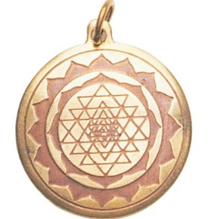 Hex Shri Yantra Charm Pendant for Good Luck