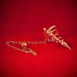 Hex Copper Spiral Metal Pendulum
