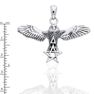 Hex Flying Owl with Pentacle & Triangle