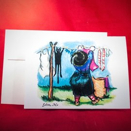 Hex Greeting Card - Witchwash Daily by Sabrina the Ink Witch