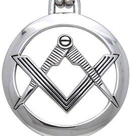Hex Compass Square Pendant