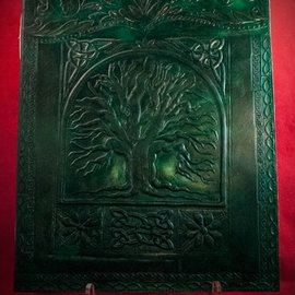 Hex Small Tree of Life  Journal in Green