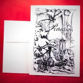 Hex Greeting Card - Protection Spell by Sabrina The Inkwitch