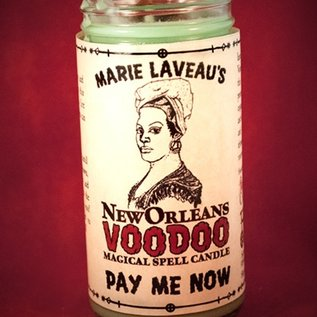 Hex Pay Me Now - Marie Laveau's New Orleans Voodoo Spell Candle