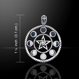 Hex Phases of the Moon Pentacle with Inlay